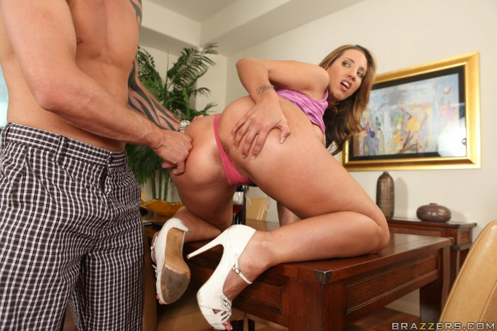 Kelly Divine Asshole Behind Thong